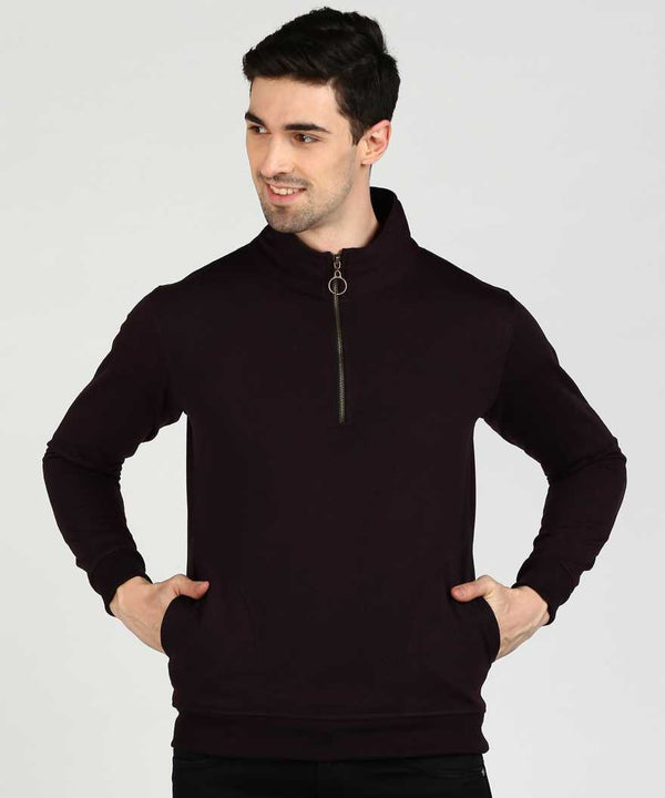 Wine Quarter Zip Sweatshirt