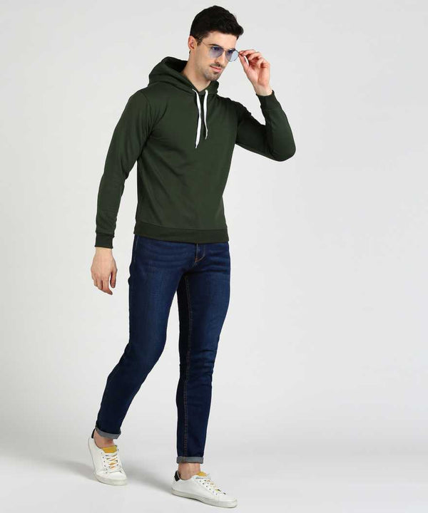 Military Green Basic Hoodie