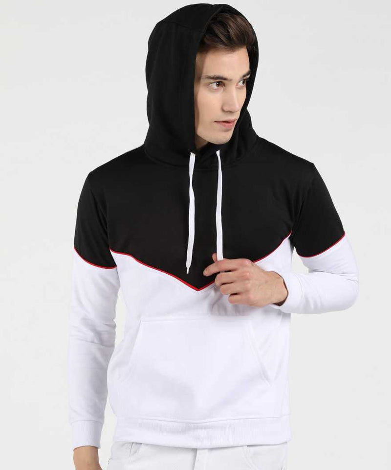 Victory Hoodie with Piping - Black & White