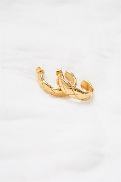 Golden Lattice Earrings