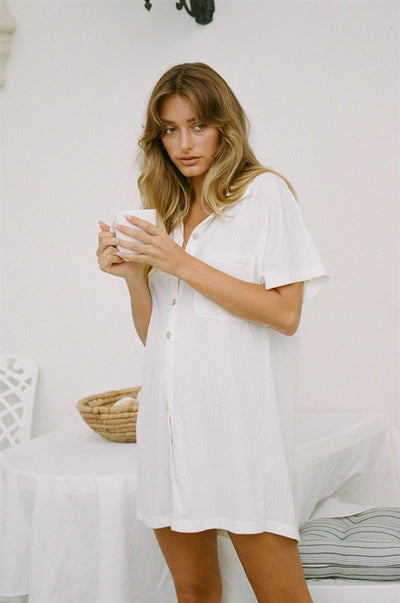Cosy Shirt Dress - Jersey