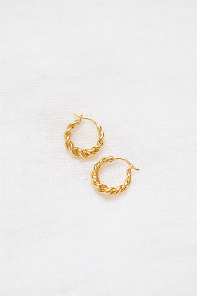 18K Curve Earrings