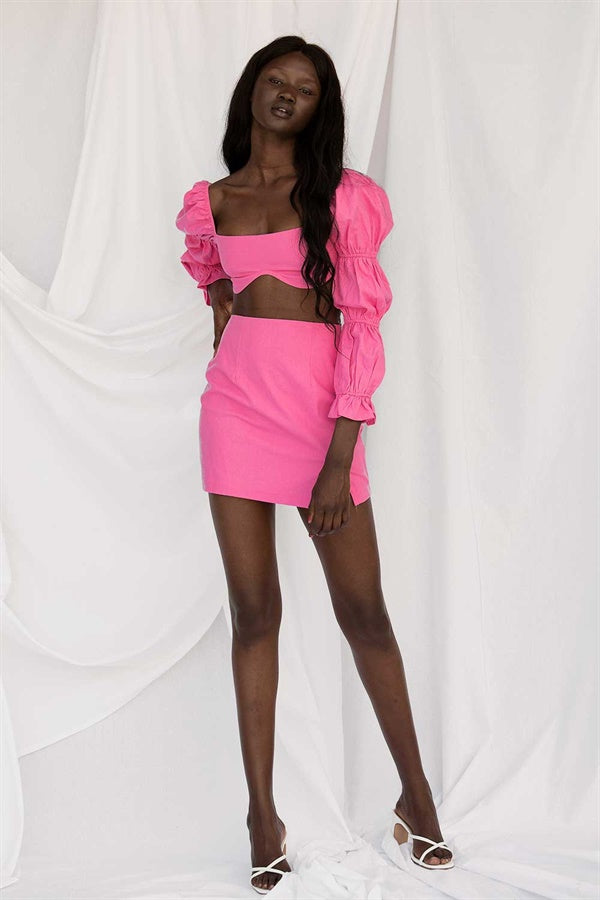 SAMPLE-Jade Skirt - Pink