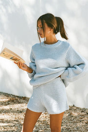 Noelle Knit Sweater - Blue