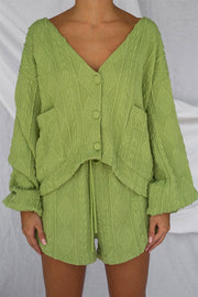 Ellis Cardi - Green Cable