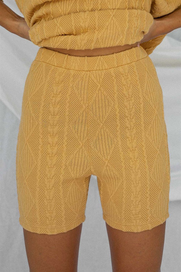 Archer Bike Shorts - Tan Cable