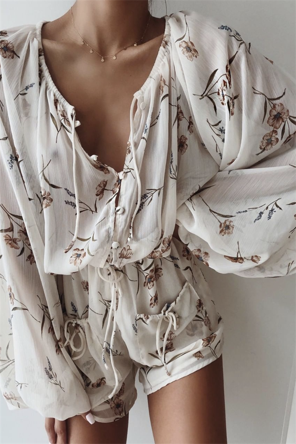 Norah Playsuit - Floral