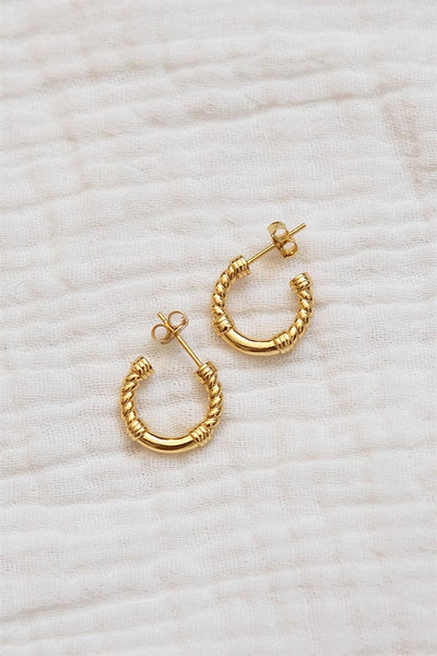 18K Twist Earrings