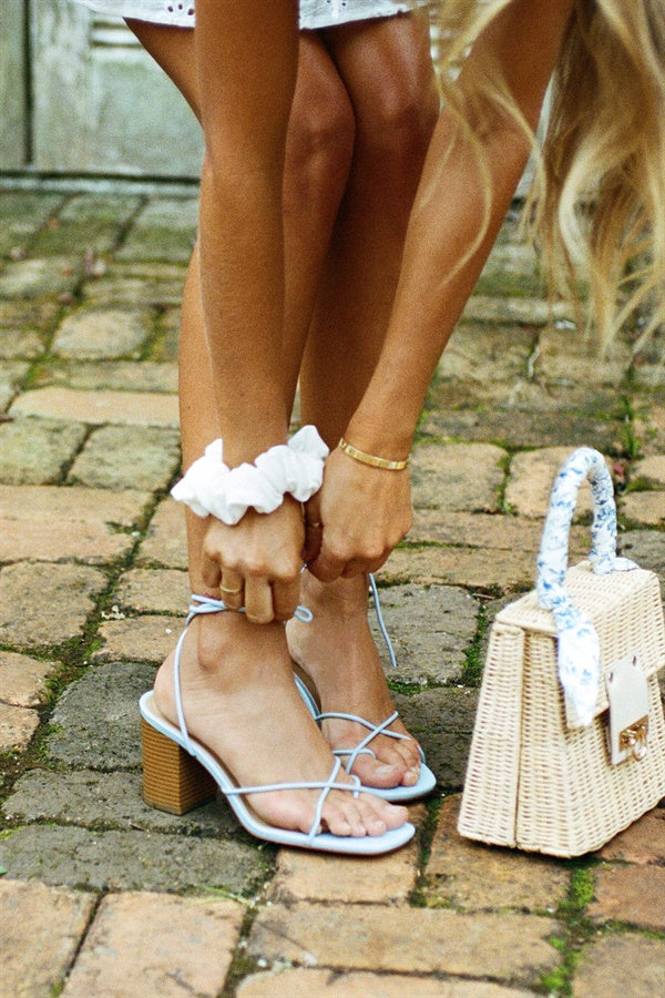 SAMPLE-Azzuro Strappy Sandals - Blue