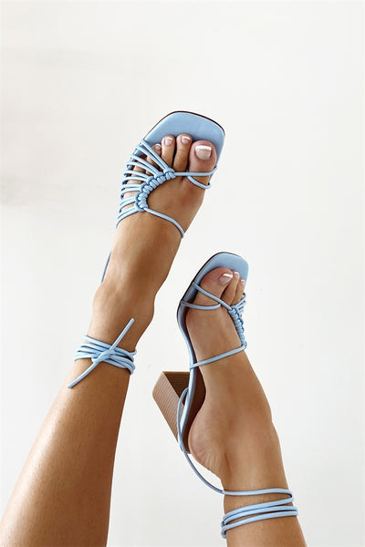 Roxo Strappy Sandals - Blue