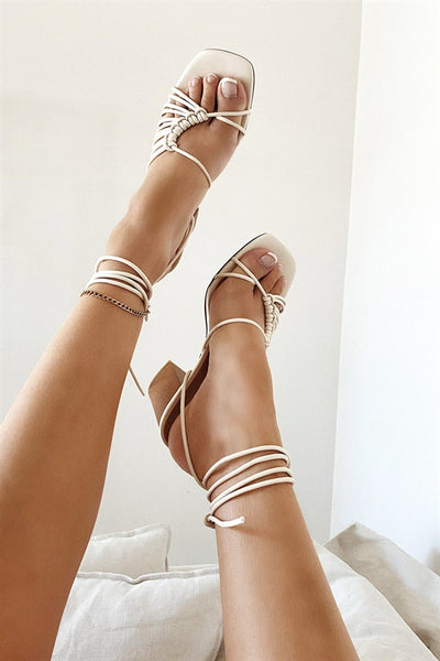 Roxo Strappy Sandals - Off White