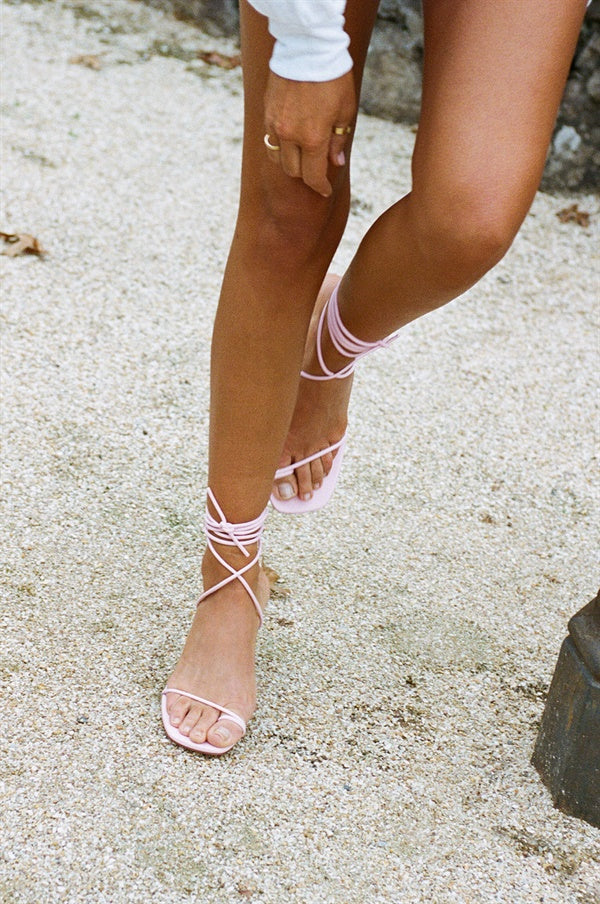 SAMPLE-Salina Strappy Sandals - Pink