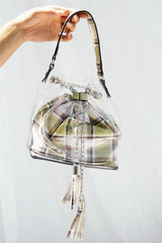 Transparent Tartan Bag