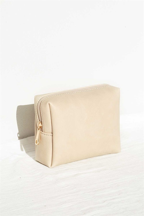 Travel Cosmetics Case - Beige