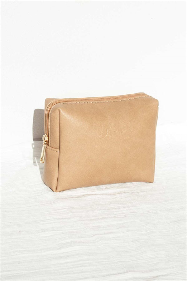 Travel Cosmetics Case - Tan