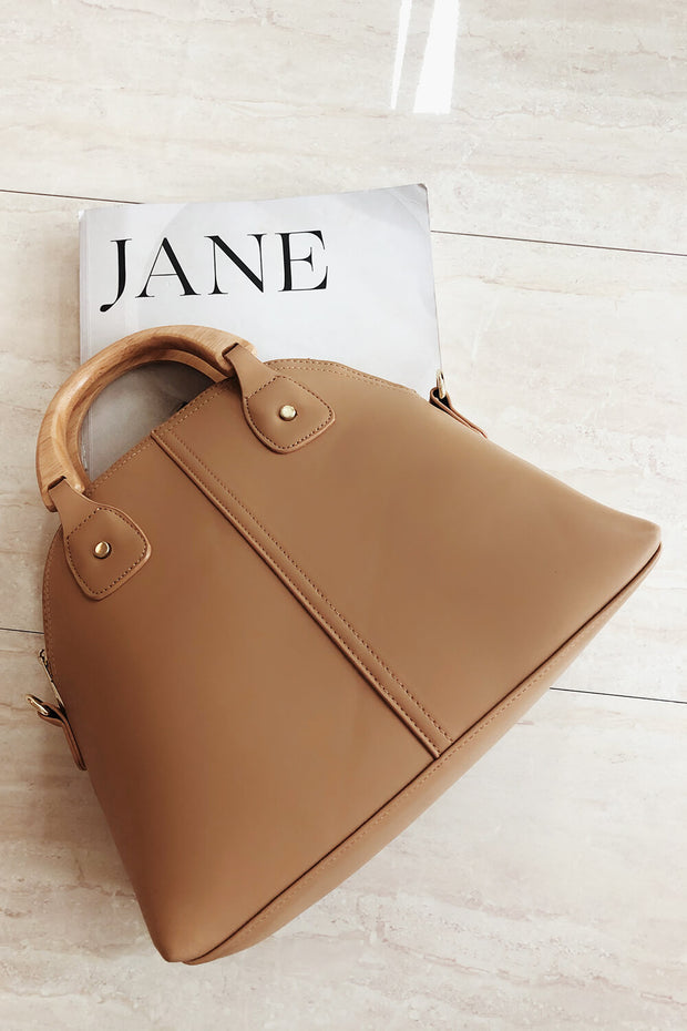 SAMPLE-Wooden Handle Tote