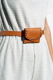 High Waist Belt - Tan