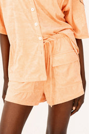 Frankie Towelling Shorts - Apricot