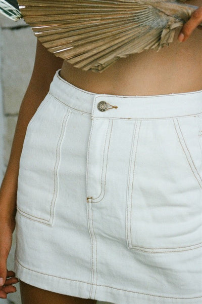 Halo Denim Skirt