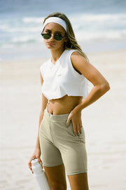Khaki Bike Shorts