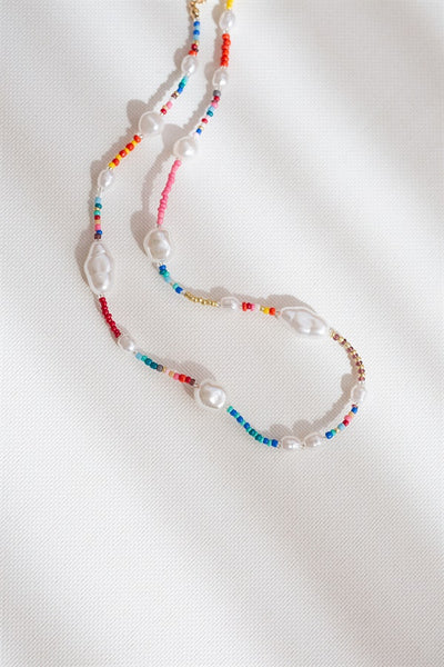 Beaded Lyra Necklace