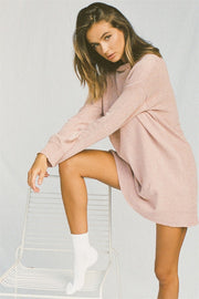 Dusty Rose Knit Dress