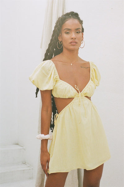 Eilish Dress - Lemon