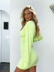 SAMPLE-Koi Dress - Lime