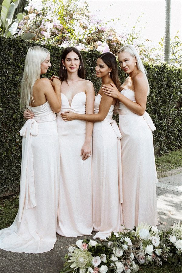 Milan Bridesmaid Dress - Blush