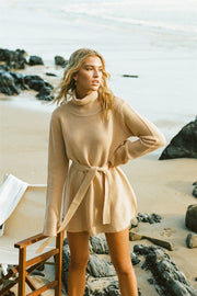 SAMPLE-Muse Knit Dress - Tan