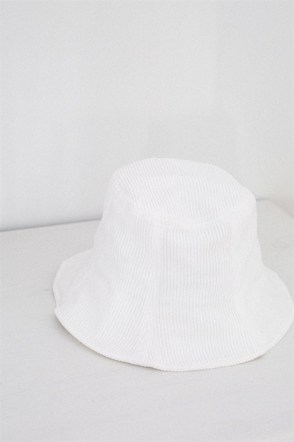 Marley Cord Hat - White