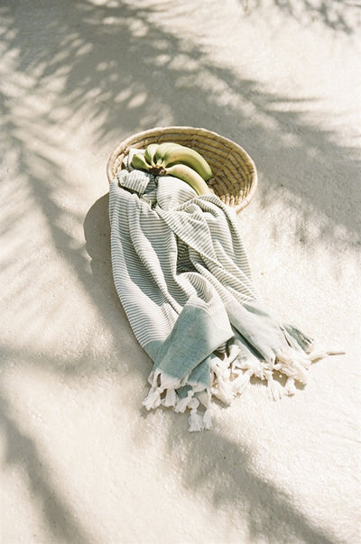 Santorini Beach Towel - Green