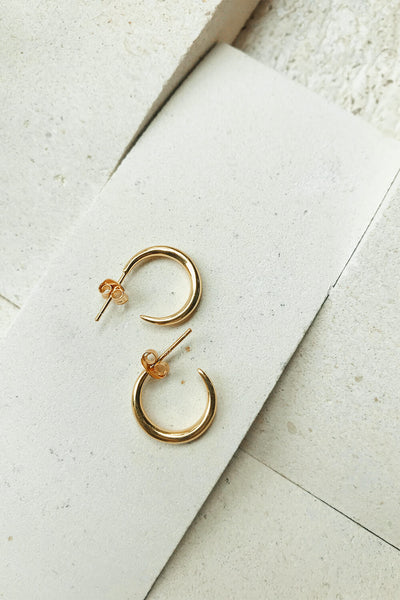 18K Mini Gold Hoops