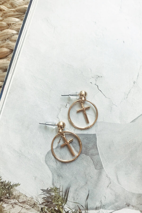 Cross Ring Earrings