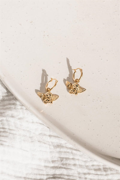 Golden Cupid Earrings