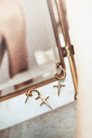Magna Cross Earrings