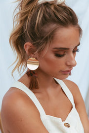 Tortoise Tassel Earrings