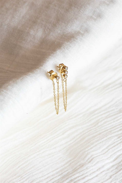 Trio Chain Earrings - Gold
