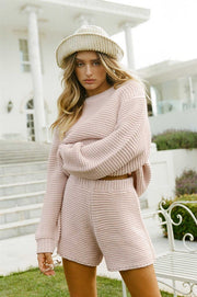 Noelle Knit Sweater - Pink