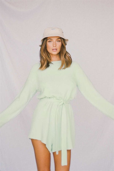 SAMPLE-Mint Knit Playsuit