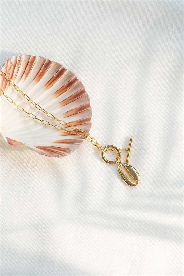 18K Golden Shell Necklace