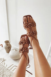 Mira Ring Slides - Tan