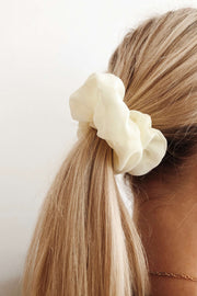 Cream Scrunchie