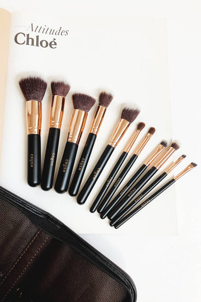 Crush Cosmetics - 11 Piece Rose Gold Brush Set