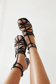 Strappy Diaz Heels - Black