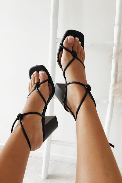 Strappy Noa Heels - Black