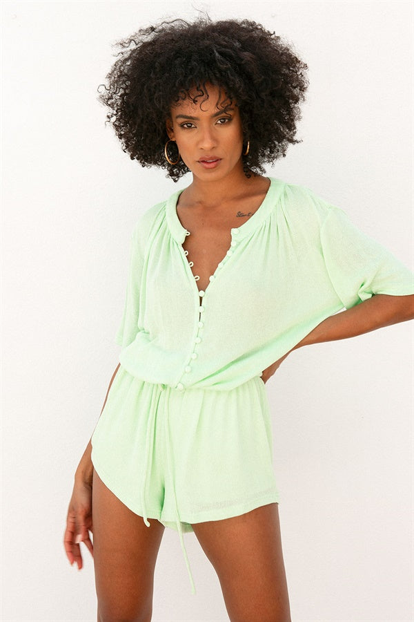 Elsa Playsuit - Lime