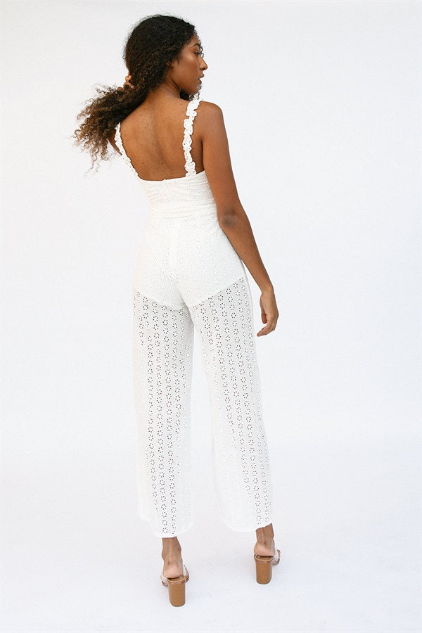SAMPLE-Hart Jumpsuit - White