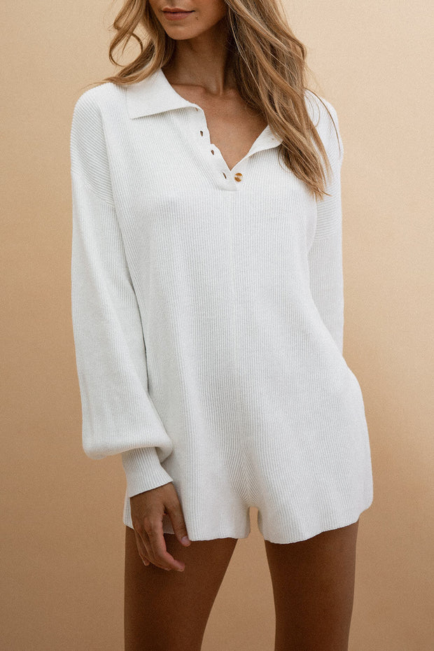 Jayla Playsuit - White