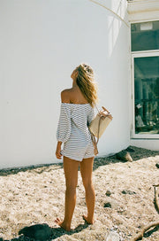 Lustre Stripe Playsuit